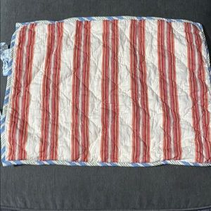 PB Multi-Striped Standard Pillow Sham Quilted